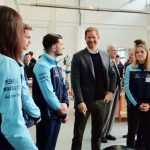 Harry officially marked the start to the construction of the Silverstone Experience Photo (C) KENSINGTON PALACE TWITTER