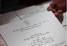 Invitations to the wedding of Prince Harry and Ms. Meghan Markle, which will take place at Windsor Castle Photo (C) INSTAGRAM