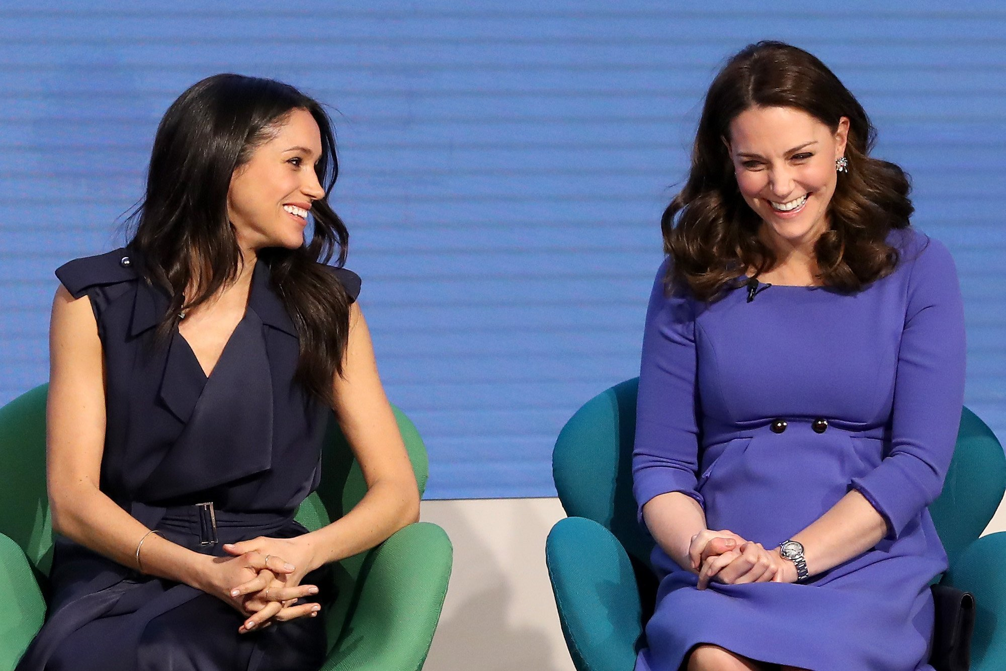James also pointed out that whenever Middleton spoke, Markle would make a concerted effort to turn to listen to her Photo (C) GETTY