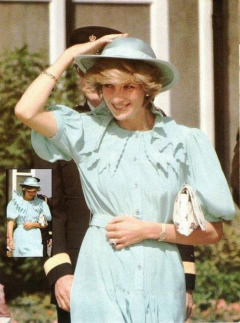 June 14, 1983 Princess Diana enroute at Heathrow Airport for the Royal Tour Photo (C) GETTY
