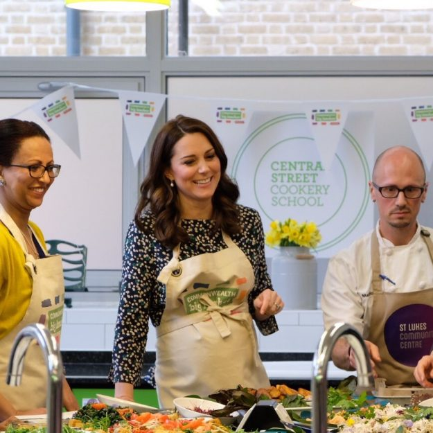 Kate Middleton showed off her cooking skills [Kensington Palace, Twitter]
