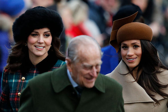 Kate and Meghan were pictured in Sandringham on Christmas Day Photo (C) GETTY