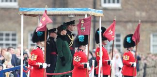 Kate and William attended the parade of the Irish Guards Photo C PA