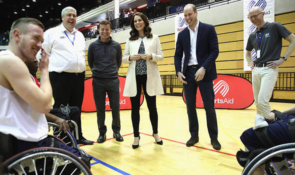 Kate and Wills visited basketball teams Photo (C) PA