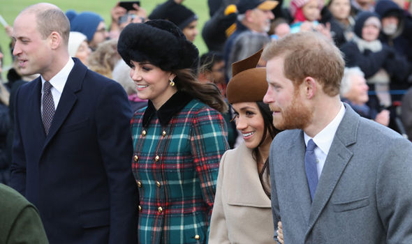 Kate at Christmas with Meghan Markle, Prince Harry and Prince William Photo (C) GETTY