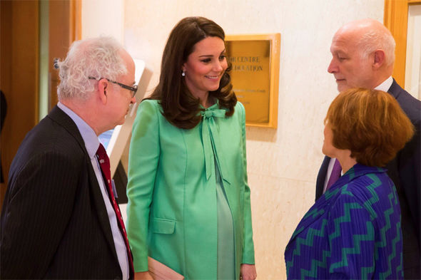 Kate looked radiant in a bespoke Jenny Packham green coat and matching dress Photo (C) KENSINGTON PALACE