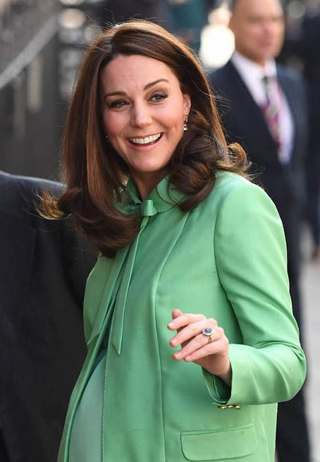 Kate may have scheduled her final engagements closer to her due date this time Photo (C) PA