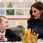Kate spoke to pupils from Albion Primary School in London Photo C GETTY