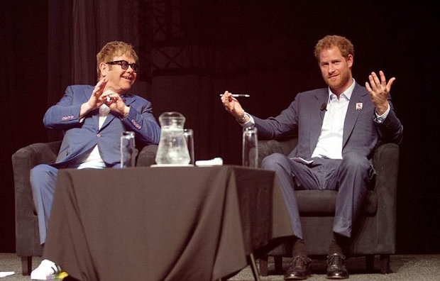LOSE Prince Harry and Elton both support several HIV charities Photo (C) GETTY
