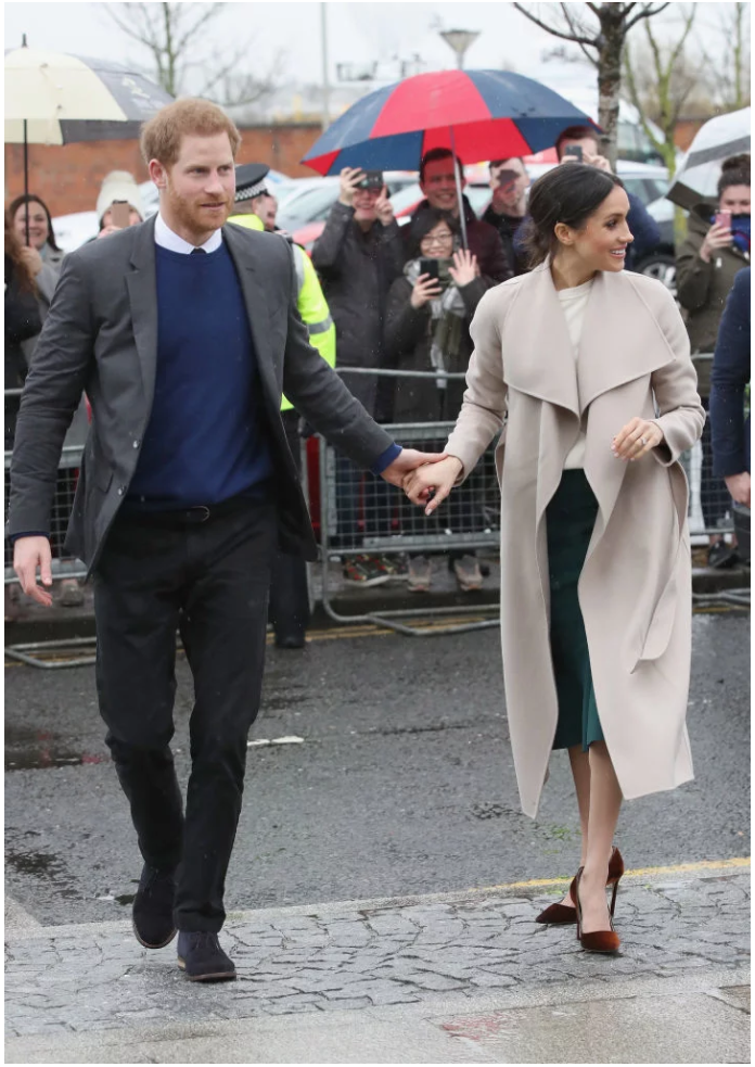 Meghan Markle's red heels are the perfect way to say Photo (C) GETTY