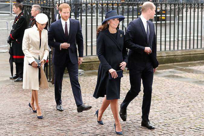 Meghan Markle joins Kate Middleton and the royal family at the Commonwealth Service Photo (C) GETTY