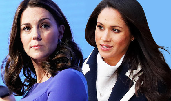 Meghan and Kate attended their first royal engagement together at the London forum Photo C GETTY
