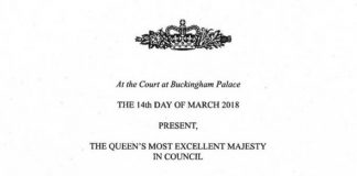 Official letter of consent provided by the Queen Photo (C) PA