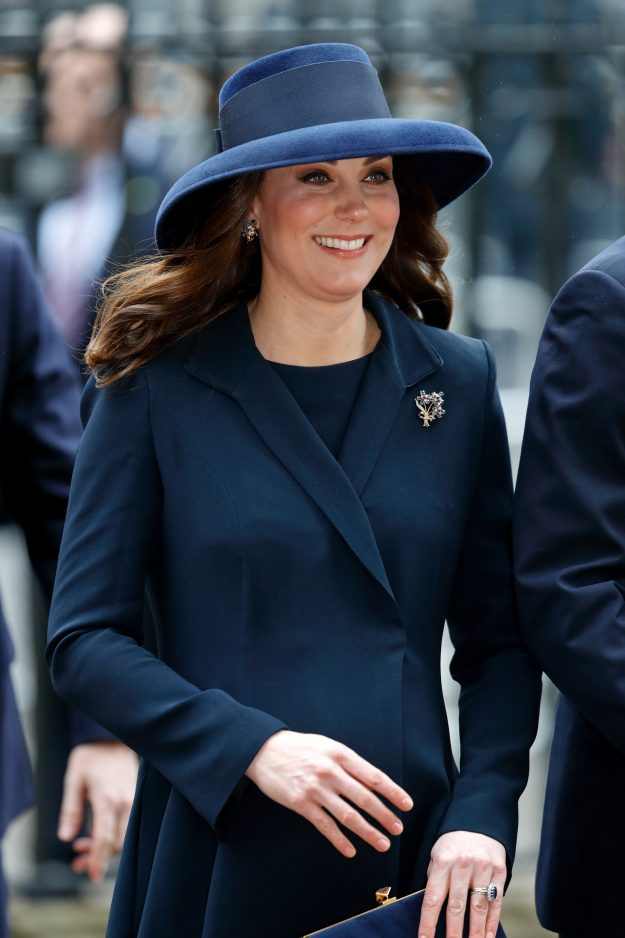 Pregnant Kate Middleton gives away telltale sign she's further along than expected [Getty]