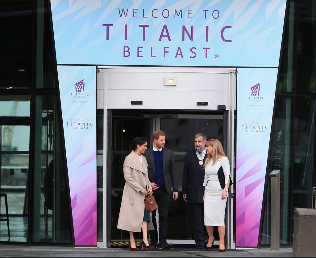 Prince Harry and Meghan Markle Visited Titanic Belfast Photo (C) TWITTER KENSINGTON