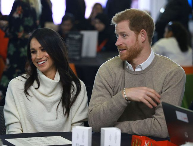 Prince Harry and Meghan Markle joked with crowds in Birmingham Photo C REX