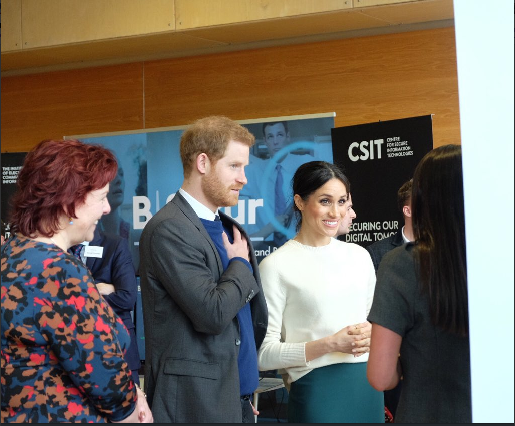Prince Harry and Ms. Markle then visited the Belfast campus of Northern Ireland's next generation science park PHoto (C) TWITTER