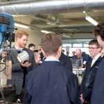 Prince Harry spoke with students at Silverstone University Technical College Photo (C) KENSTINGTON PALACE TWITTER