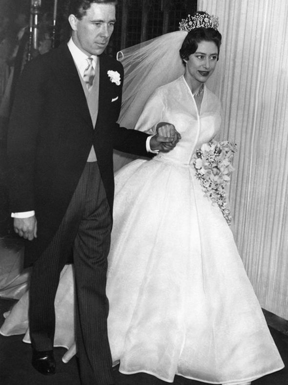 Princess Margaret's dress was described as 'the simplest royal wedding gown in history' in 1960 Photo (C) GETTY