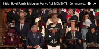 Royal Family Meghan Markle ALL MOMENTS Commonwealth Day Service 2018