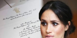 Royal wedding Meghan Markle's divorce was acknowledged on the official invitations Photo (C) GETTY, Kensington palace