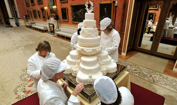 Royal wedding exclusive Kate Middleton and Prince William had an eight tiered fruit cake in 2011 Photo (C) GETTY