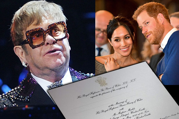 SNUBBED Elton John has not yet received his Royal Wedding invite Photo (C) GETTY, DS