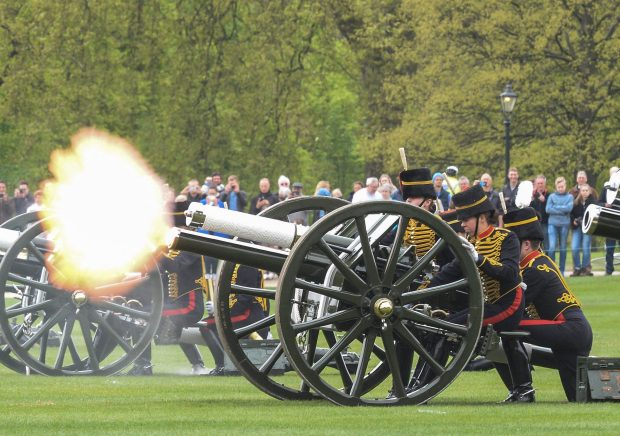 The King's Troop Royal Horse Artillery fire a 41 Gun Royal Salute in honour of the Queen's birthday The King's Troop Royal Horse Artillery fire a 41 Gun Royal Salute in honour of the Queen's birthday (Picture REX)(Picture REX)