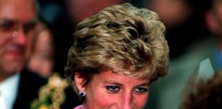 The Princess of Wales arrives at St Phillips Cathedral Birmingham where she viewed exterior restoration work October 12 1994. Photo C REUTERS
