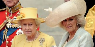 The Queen failed to utter Camillas name during her speech at her wedding Photo C GETTY