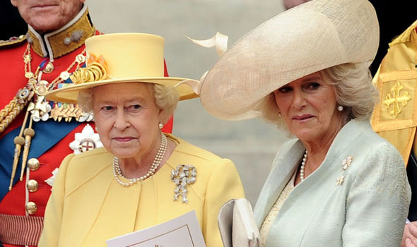 The Queen failed to utter Camilla's name during her speech at her wedding Photo (C) GETTY