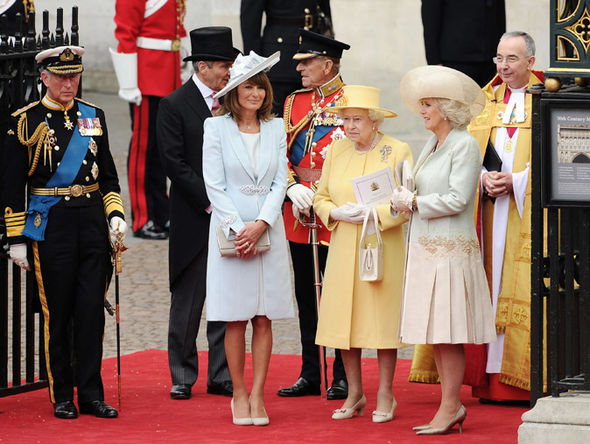 The Queen tried to smooth things over with Carole Middleton after Prince William's fury Photo (C) GETTY