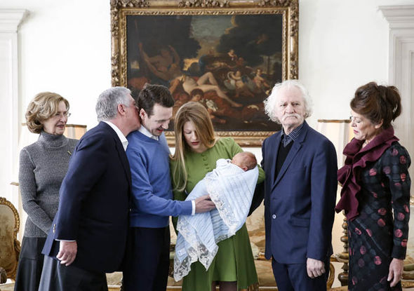 Prince Phillip, 37, and Princess Danica, 31, of Serbia welcomed their son - Stefan - into the family Photo (C) GETTY