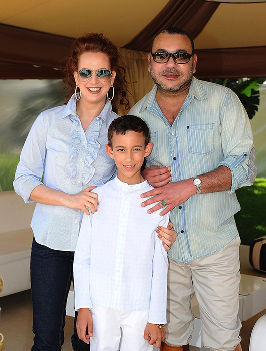The couple with their son, Moulay Hassan, the future king of Morocco Photo (C) GETTY