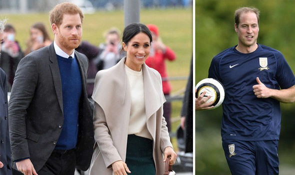 William, who is President of the FA, had a diary clash when Harry and Meghan announced their wedding Photo (C) GETTY