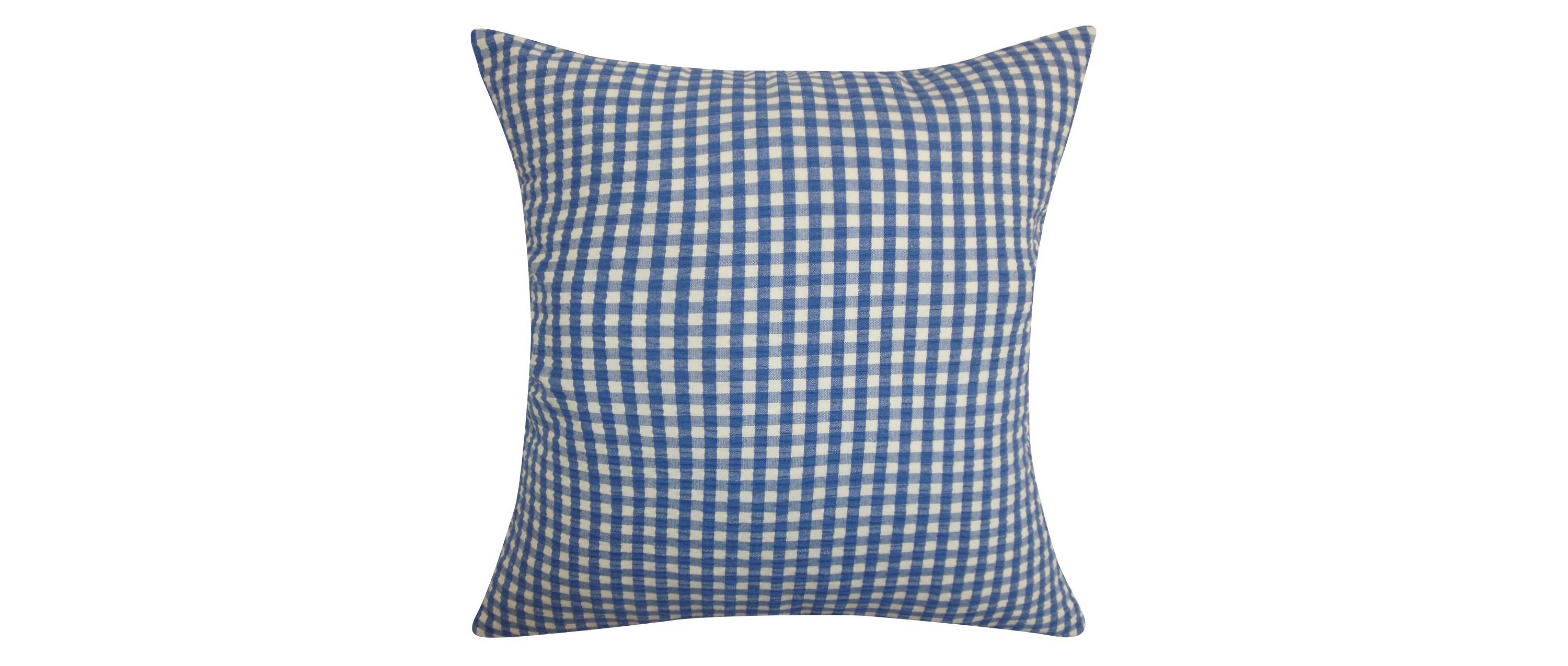 Gingham throw pillow