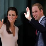 Catherine and Prince William wave to spectators Photo (C) GETTY