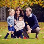 Prince George, Duchess Kate, Princess Catherine, and Prince William in the Royal Family Christmas Card 2015 Photo (C) GETTY