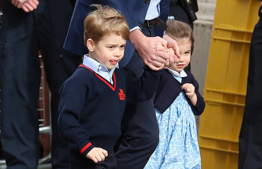 Prince George He wore his school uniform outside the Lindo Wing Photo (C) GETTY