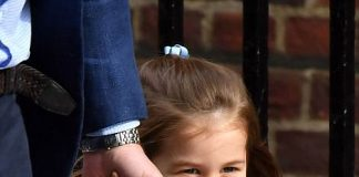 Prince William, Prince George and Princess Charlotte Elizabeth Diana going inside Hospital