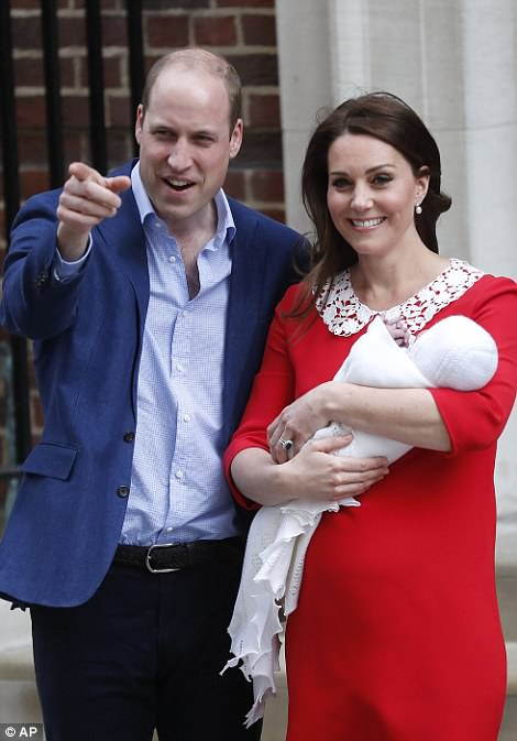 The Duchess of Cambridge and Prince William emerged from the Lindo Wing with their new son
