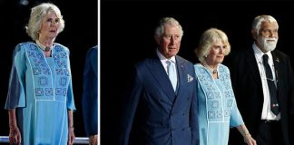 Camilla Parker Bowles appeared uninterested and bored during the Commonwealth ceremony Photo C REUTERS