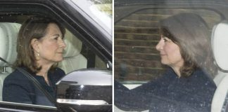 Carole Middleton visits royal baby Prince Louis Photo C STEVE REIGATE