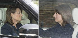 Carole Middleton visits royal baby Prince Louis Photo C STEVE REIGATE