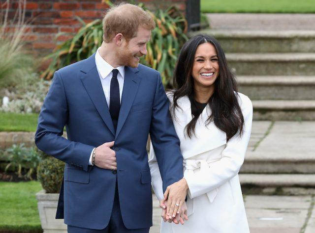 Prince Harry and Meghan Markle during an official photocall to announce the engagement. Photo (C) GETTY