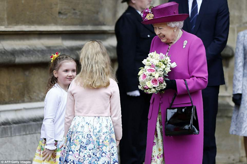 It is Spring, honest! Hundreds of well-wishers lined the streets to catch a glimpse of the royals together