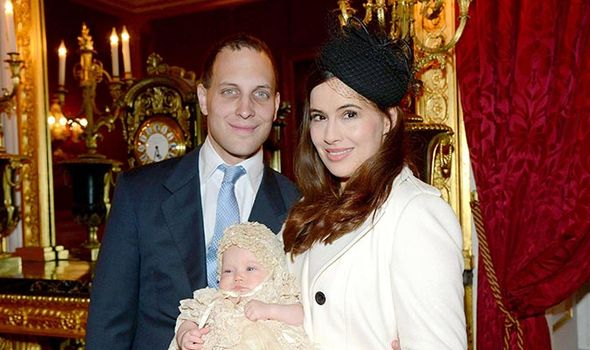 Lord and Lady Frederick Windsor with their daughter, Miss Maud Elizabeth Daphne Marina Windsor Photo (C) RICHARD YOUNG, REX