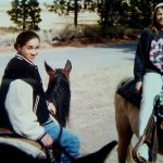 Meghan Markle, aged 12, horseback riding in Big Bear, California Photo (C) COLEMAN-RAYNER