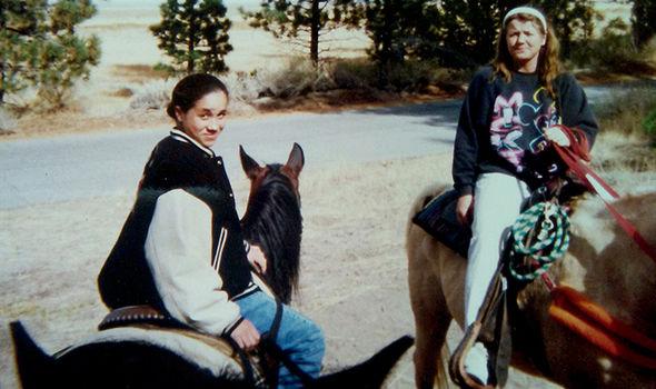 Meghan Markle, aged 12, horseback riding in Big Bear, California Photo (C) COLEMAN-RAYNER