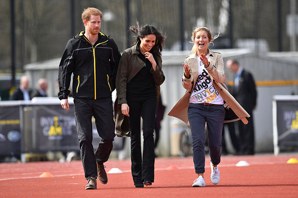 Meghan Markle showed her support for Prince Harry at trials for the Invictus Games Photo (C) TWITTER